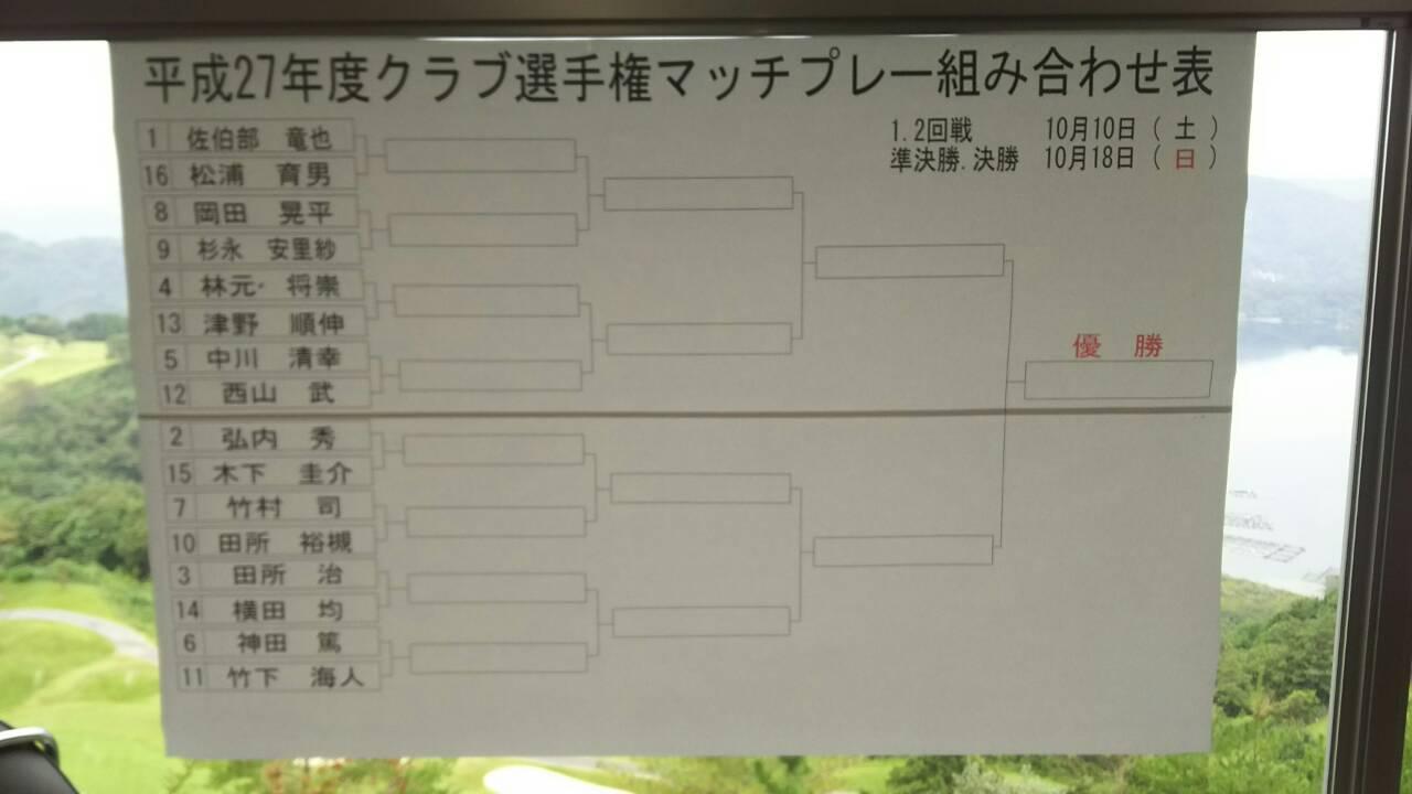 平成27年度クラブ選手権組合せ表